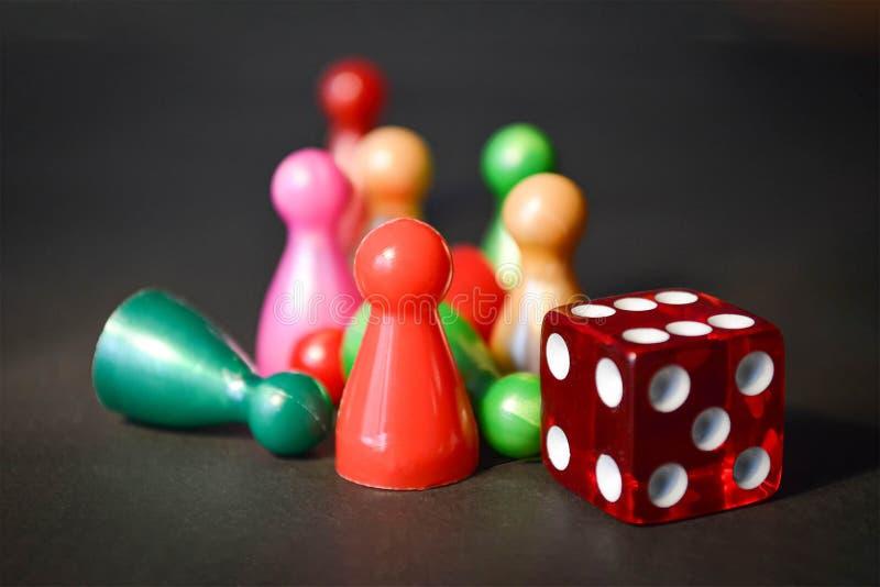 棋形象和模子 库存图片