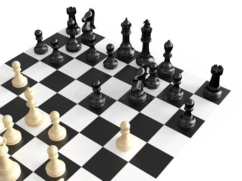 棋形象和董事会 向量例证