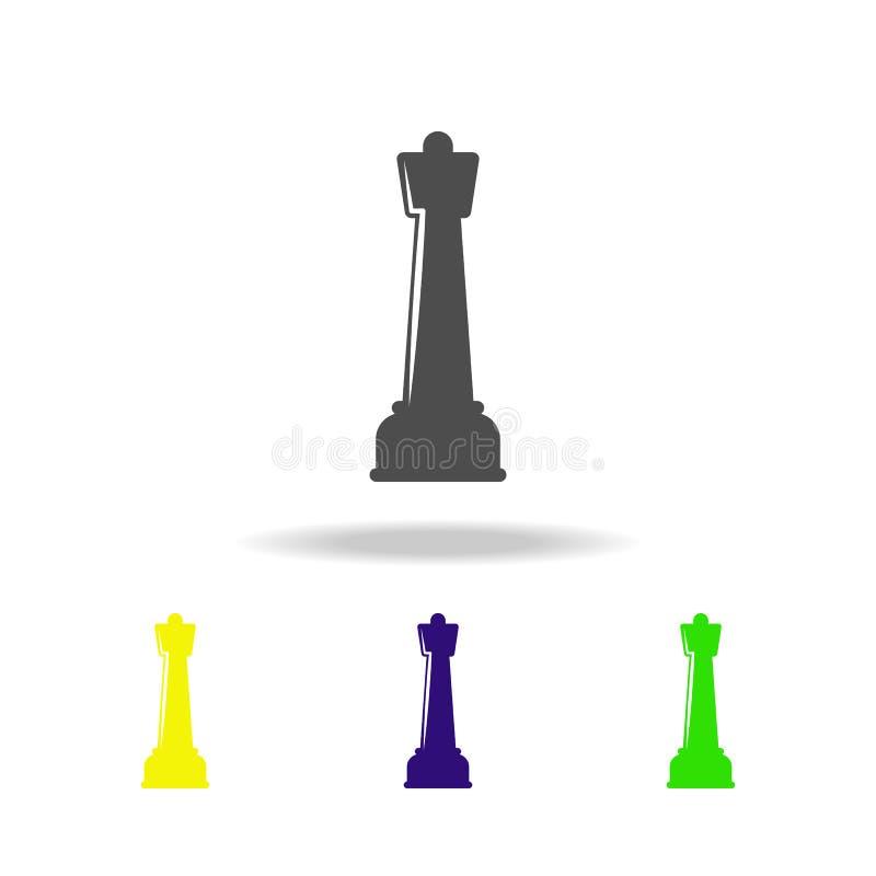 棋形象多彩多姿的象 体育象的元素可以为网,商标,流动应用程序,UI,UX使用 库存例证