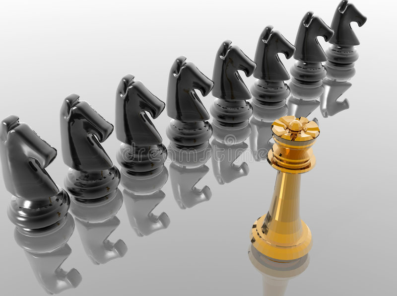 棋形象 库存例证