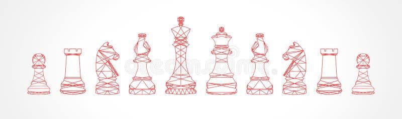 棋抽象家庭  免版税库存图片