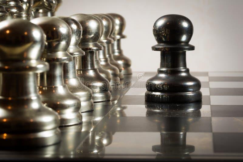 棋挑战 免版税库存图片