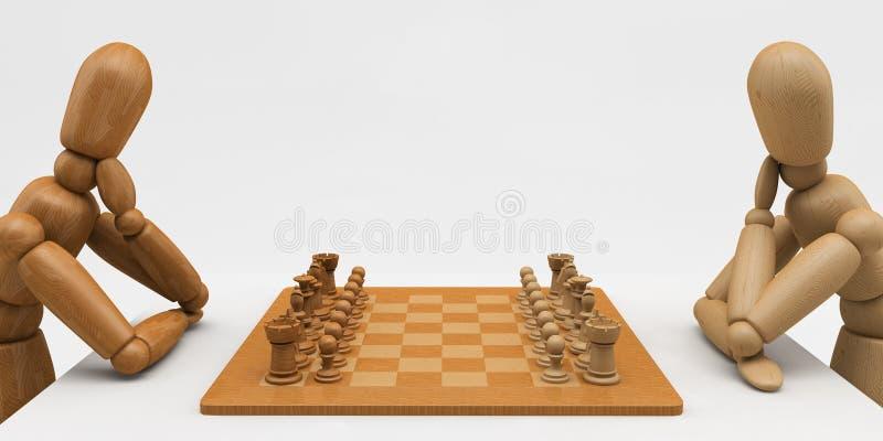 棋时装模特 向量例证