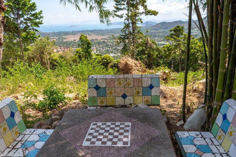 棋枰在狂放的泰国 免版税库存照片
