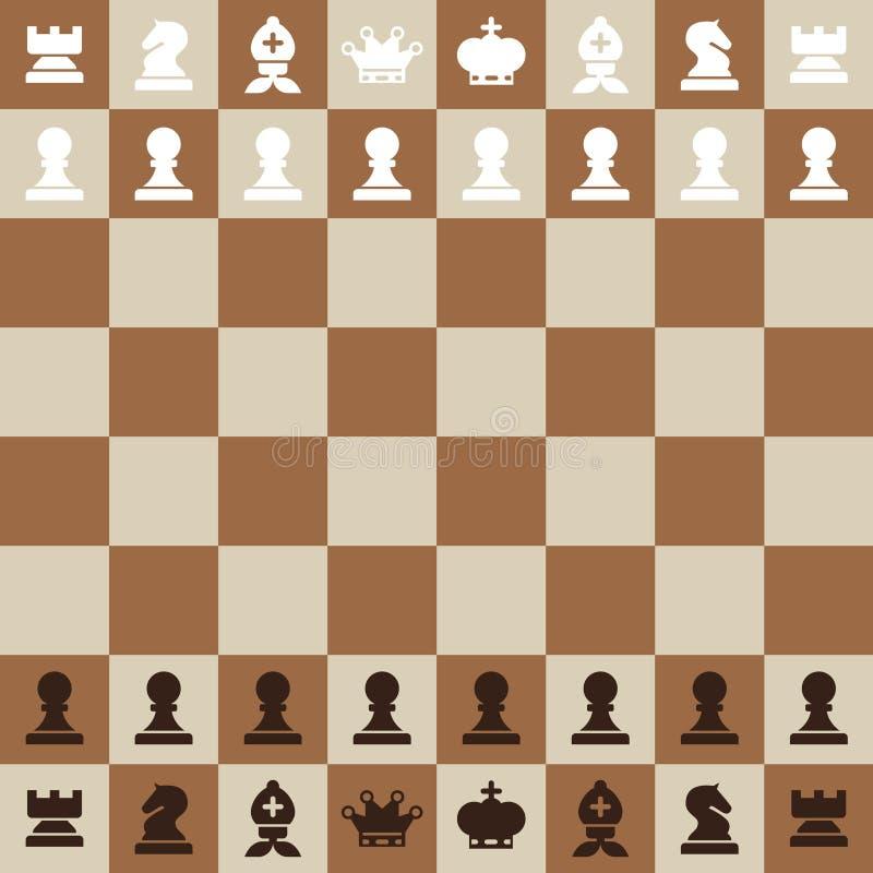 棋枰顶视图传染媒介平的设计棋盘 皇族释放例证