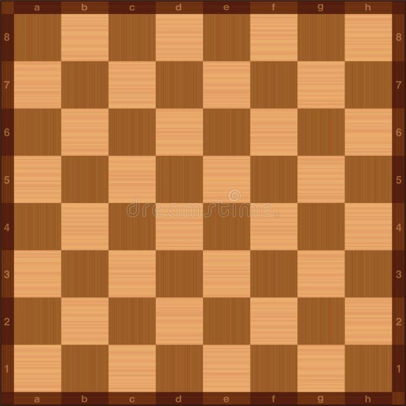 棋枰代数记法顶视图木纹理 向量例证