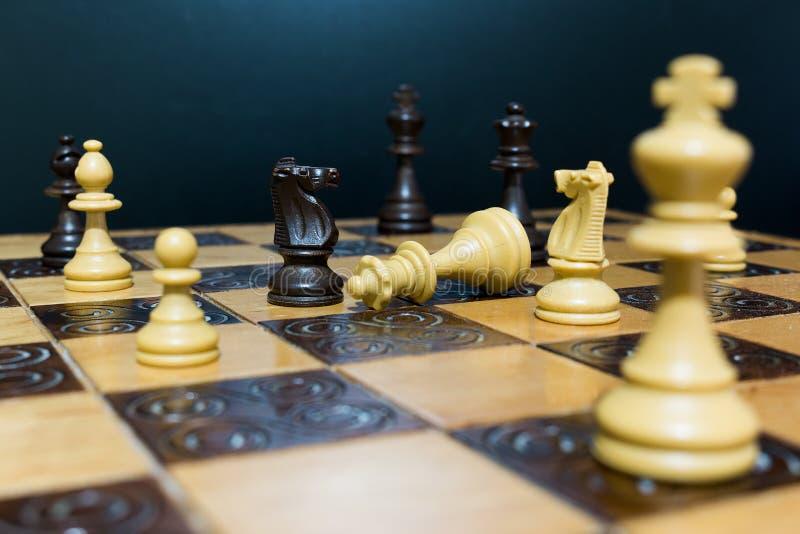 棋棋枰协商的典当二 库存照片