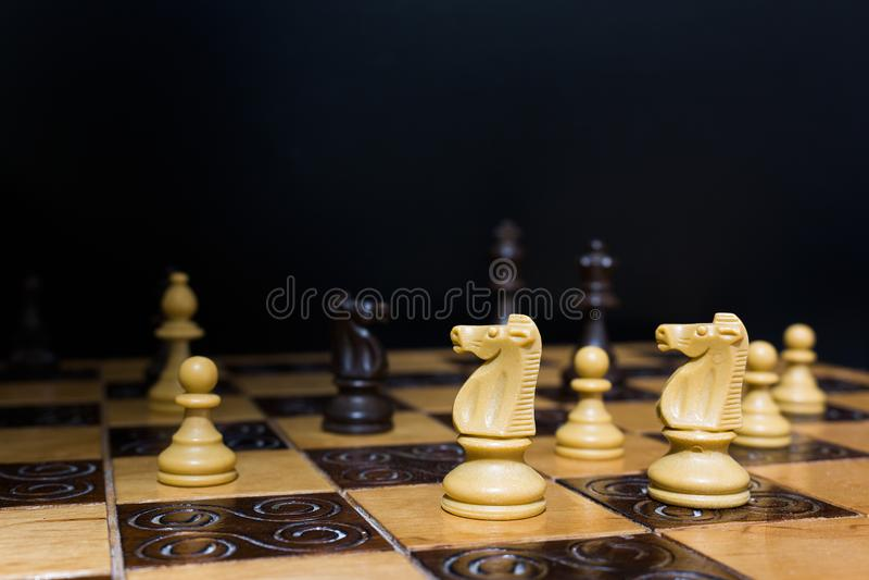 棋棋枰协商的典当二 免版税库存照片