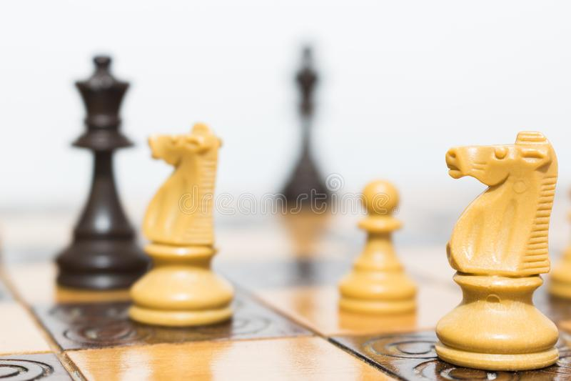 棋棋枰协商的典当二 库存图片