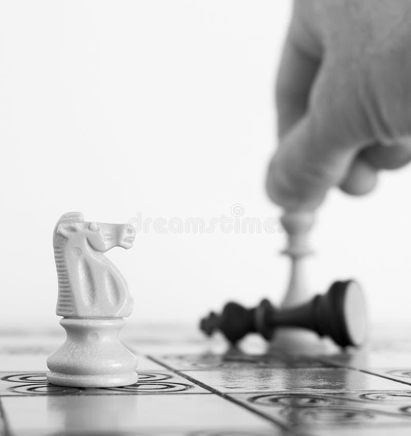 棋棋枰协商的典当二 免版税图库摄影