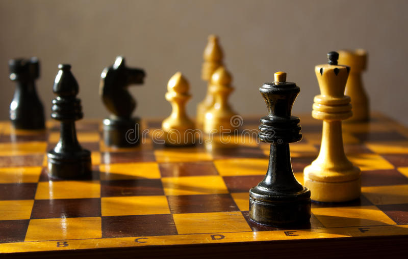 棋棋枰 免版税库存照片