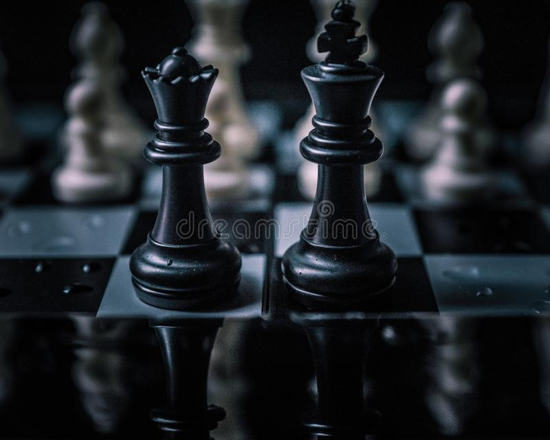 棋棋 脑子比赛 库存照片