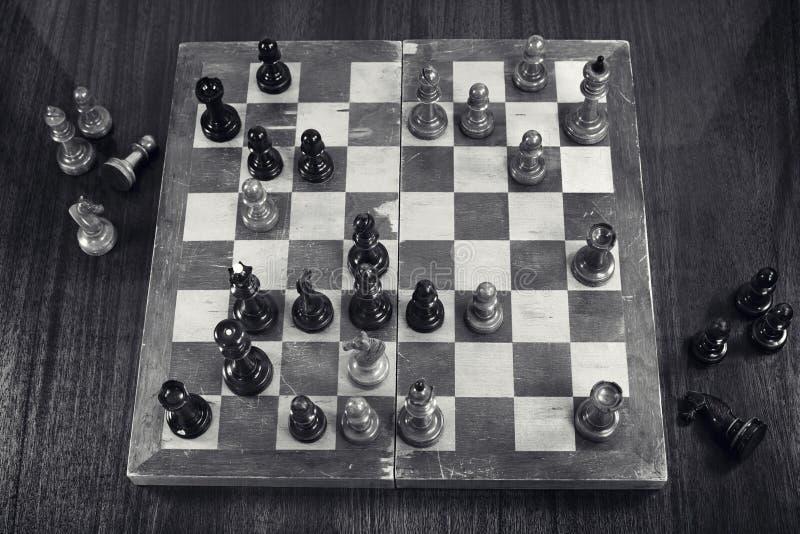 棋比赛塔尔-盖勒 免版税图库摄影