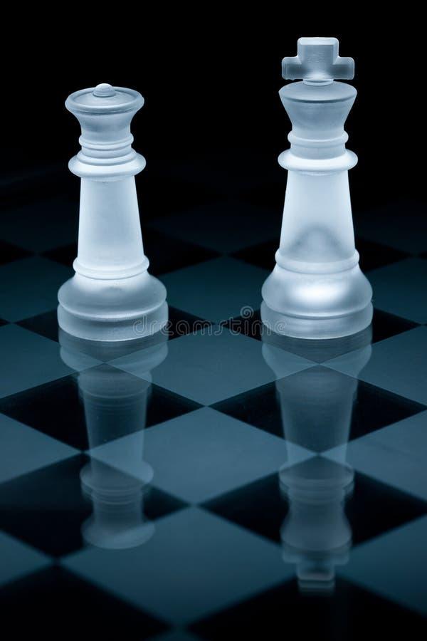 棋玻璃宏指令集合射击 免版税库存照片