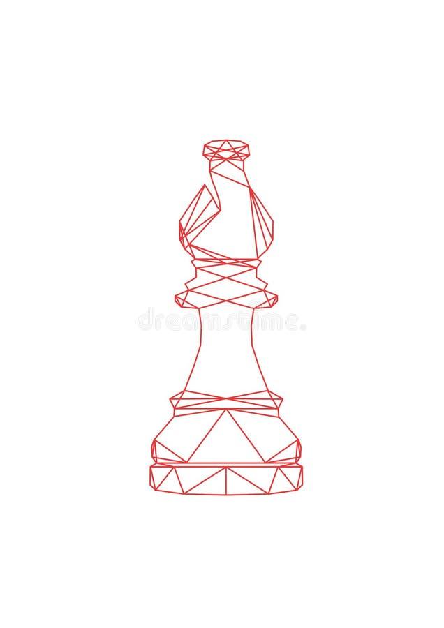 棋的抽象主教 库存图片