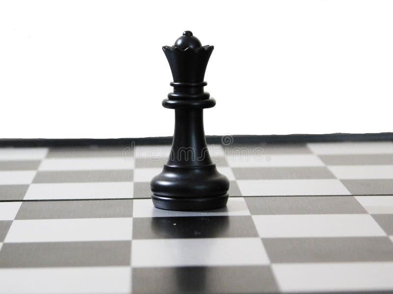 棋的黑人女王/王后 免版税库存图片