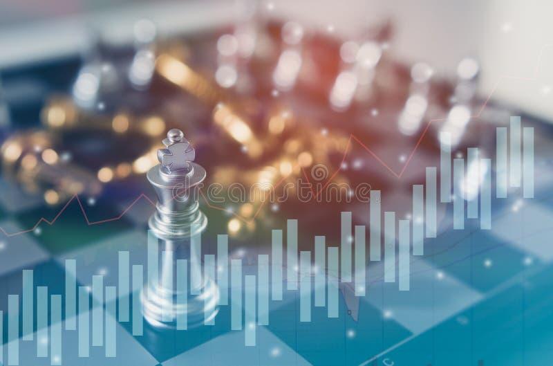 棋盘企业想法的比赛概念和竞争和战略计划成功意思 免版税库存图片