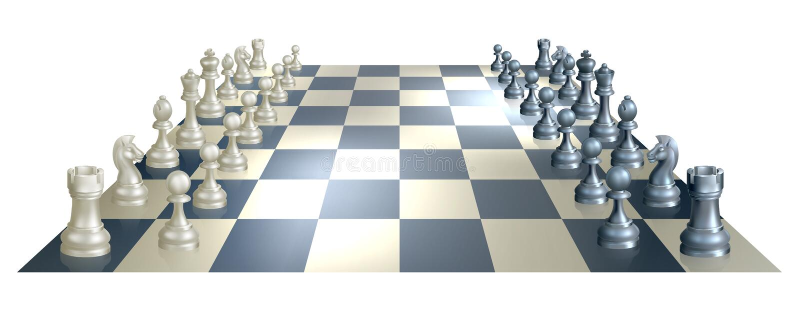 棋盘和部分 皇族释放例证