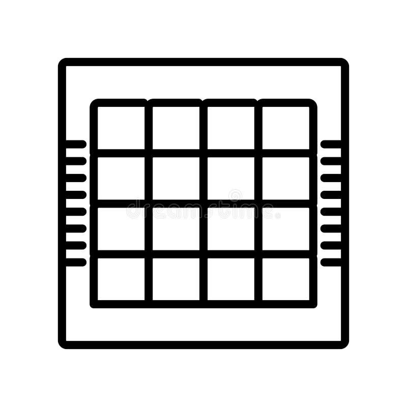 棋盘在白色背景隔绝的象传染媒介,棋公猪 库存例证