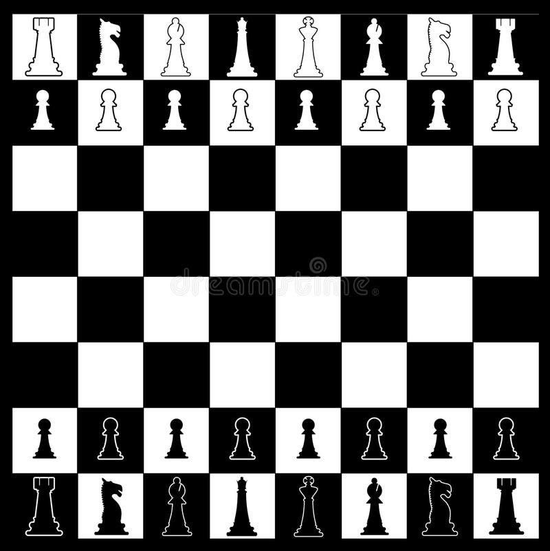 棋盘布局 向量例证