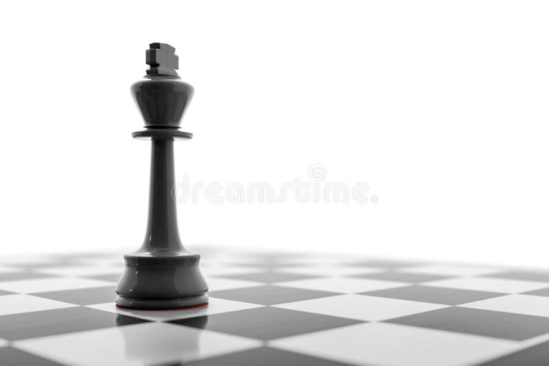 棋盘的黑人国王 向量例证