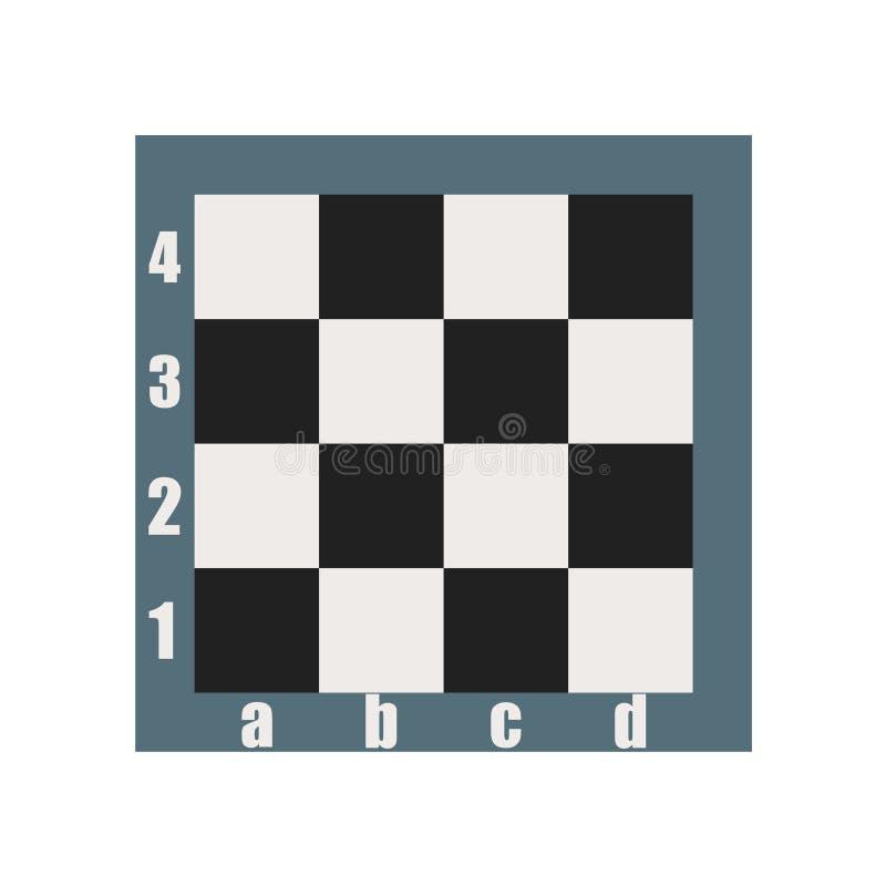 棋盘象在白色背景和标志隔绝的传染媒介标志,棋盘商标概念 皇族释放例证