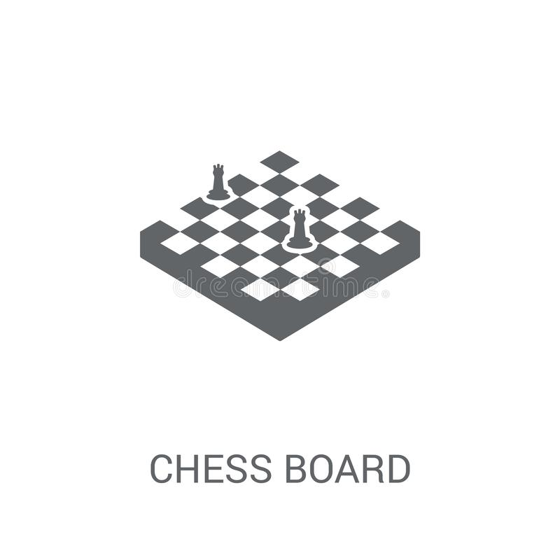 棋盘象  向量例证