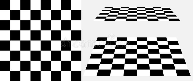 棋盘透视传染媒介3d背景 向量例证