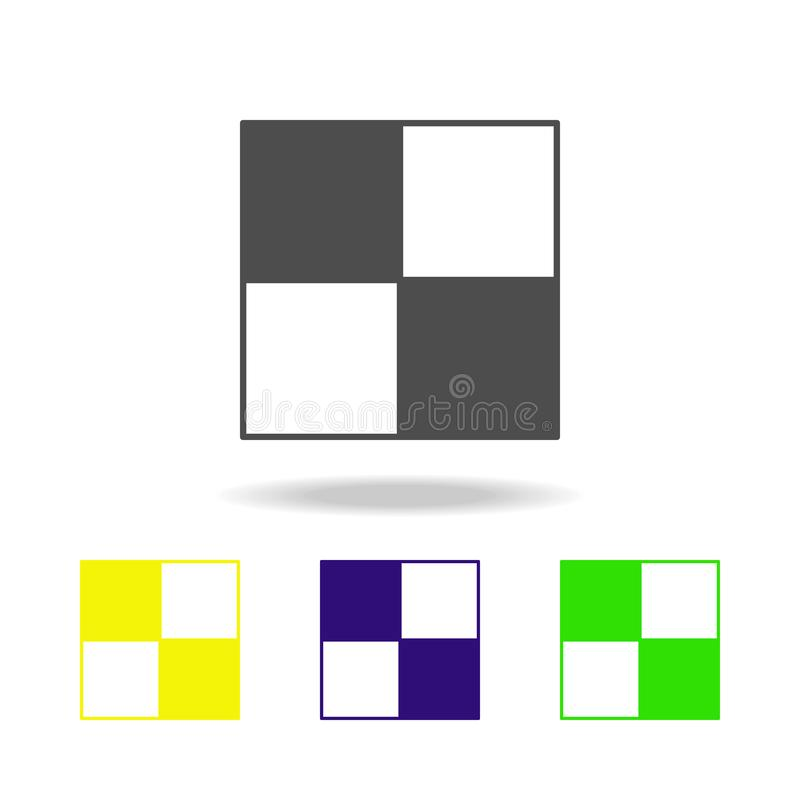 棋盘颜色象 棋的元素流动概念和网apps例证的 稀薄的线网站设计的颜色象和 库存例证