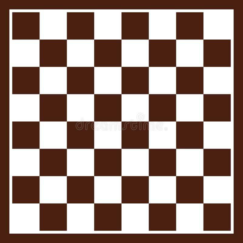 棋盘黑白色 库存例证
