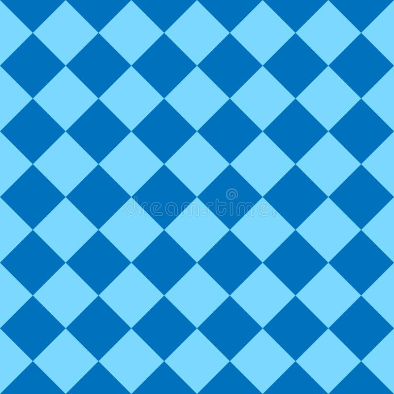 棋盘,无缝的样式 也corel凹道例证向量 蓝色 库存例证