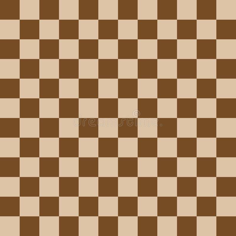 棋盘,无缝的样式 也corel凹道例证向量 browne 向量例证