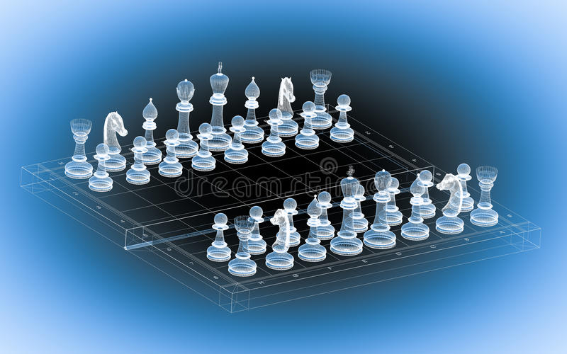 棋身体结构 向量例证