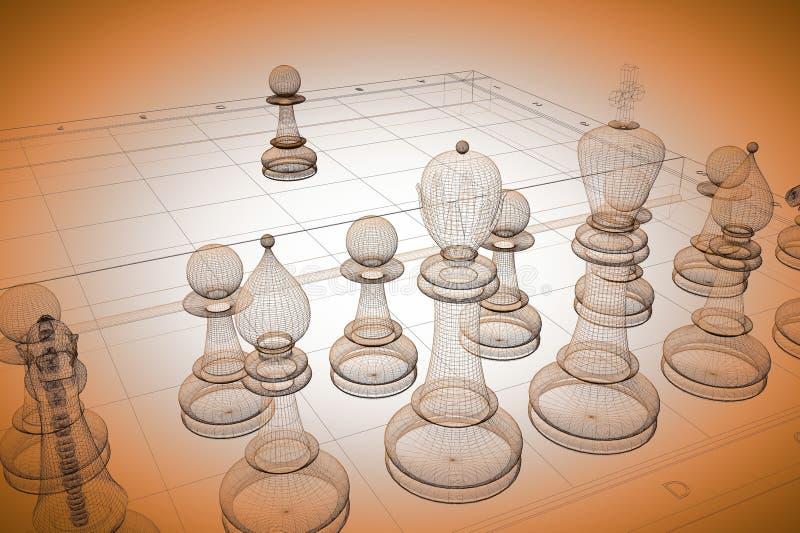 棋身体结构 免版税库存照片