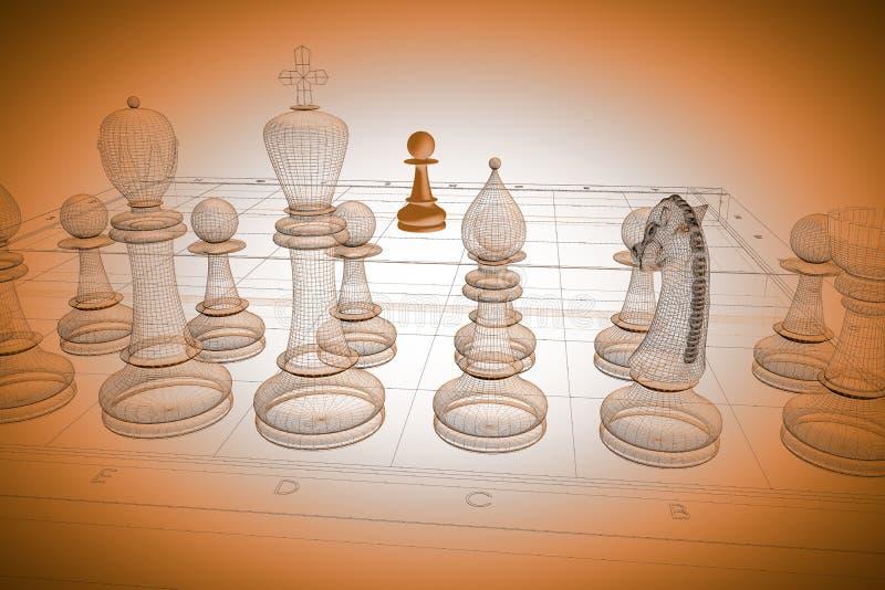 棋身体结构 库存例证