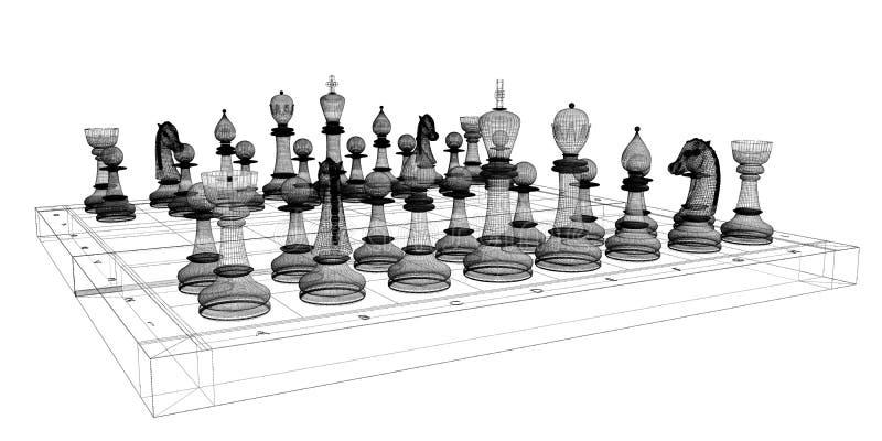 棋身体结构 库存图片