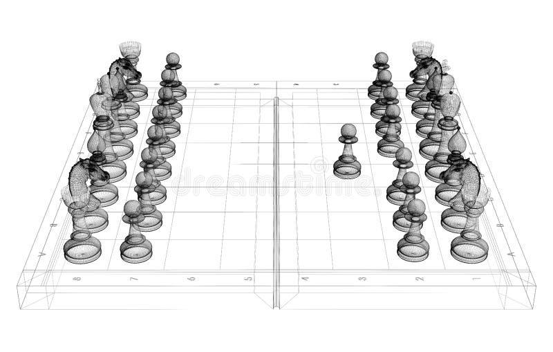棋身体结构 皇族释放例证