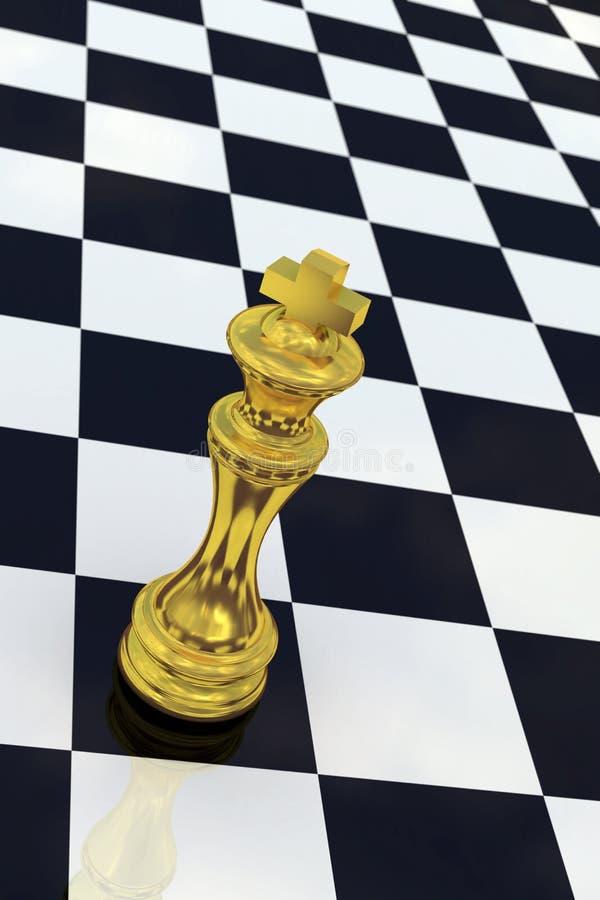 棋金黄国王 向量例证