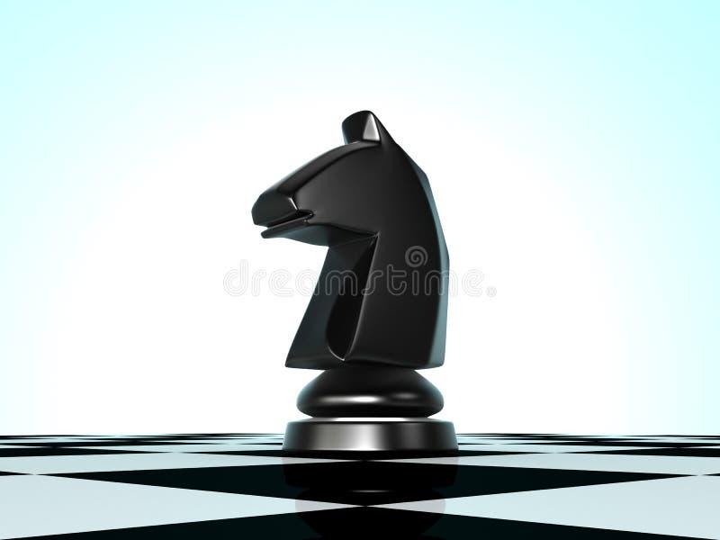 棋马 向量例证