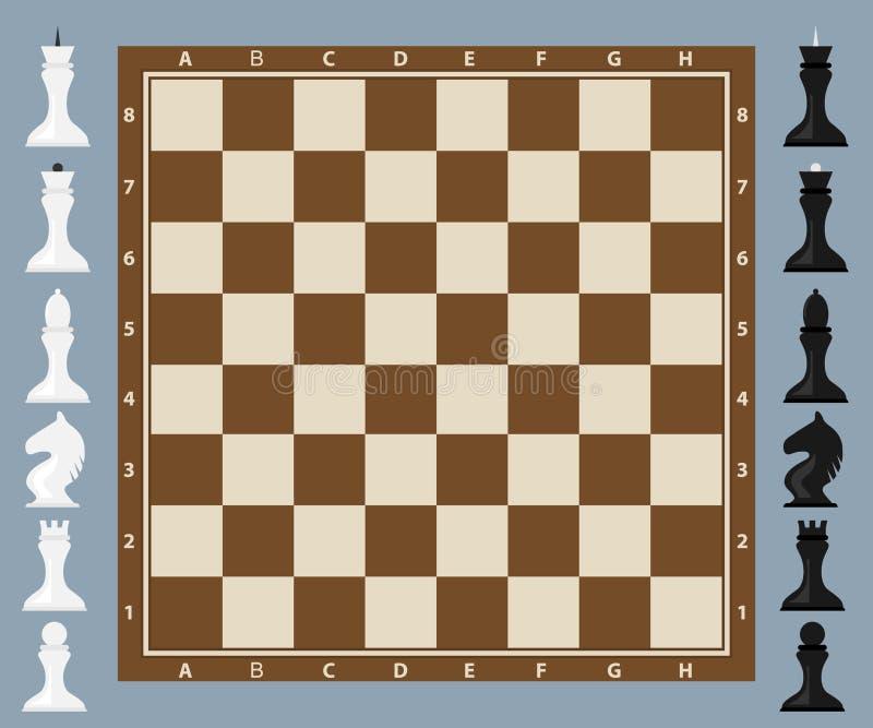 棋,与图的棋盘 皇族释放例证