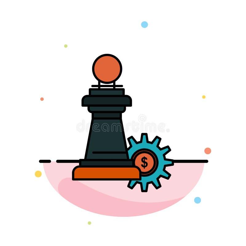 棋,事务,战略,成功摘要平的颜色象模板 向量例证