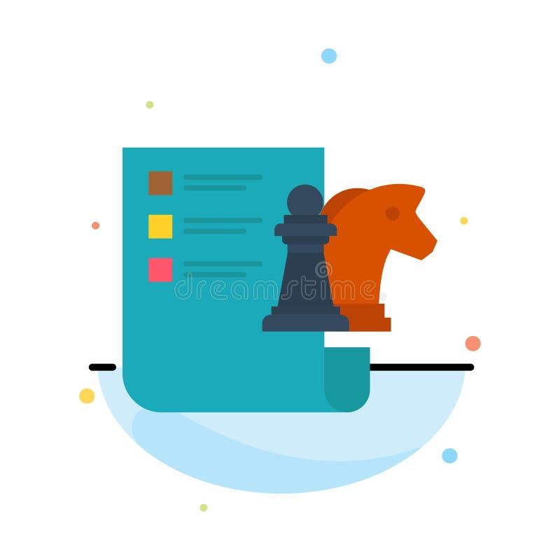 棋,事务,战略,计划摘要平的颜色象模板 皇族释放例证