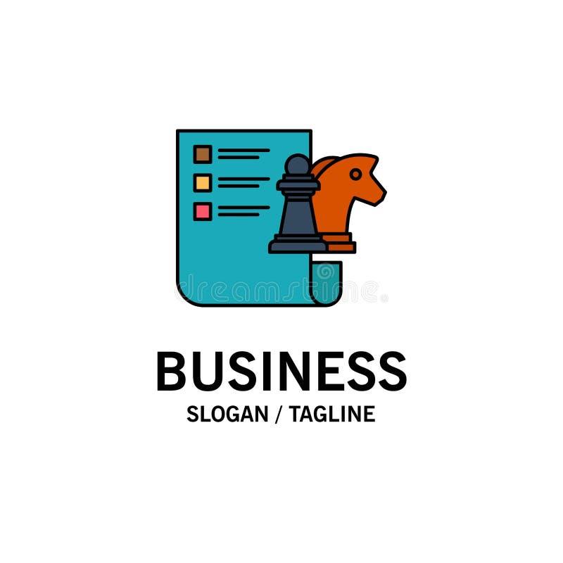 棋,事务,战略,计划的企业商标模板 o 皇族释放例证