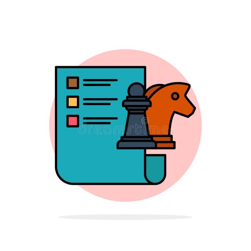 棋,事务,战略,计划的抽象圈子背景平的颜色象 库存例证