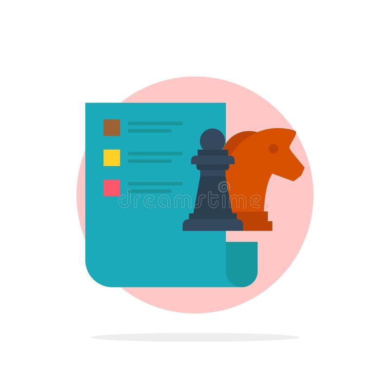 棋,事务,战略,计划的抽象圈子背景平的颜色象 向量例证