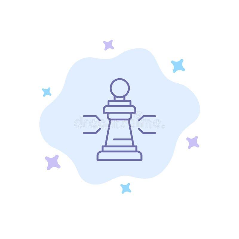棋,好处,事务,图,比赛,战略,在抽象云彩背景的战术蓝色象 库存例证