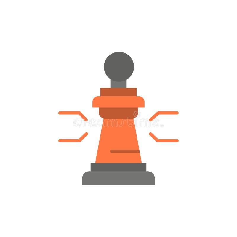 棋,好处,事务,图,比赛,战略,战术平的颜色象 传染媒介象横幅模板 库存例证