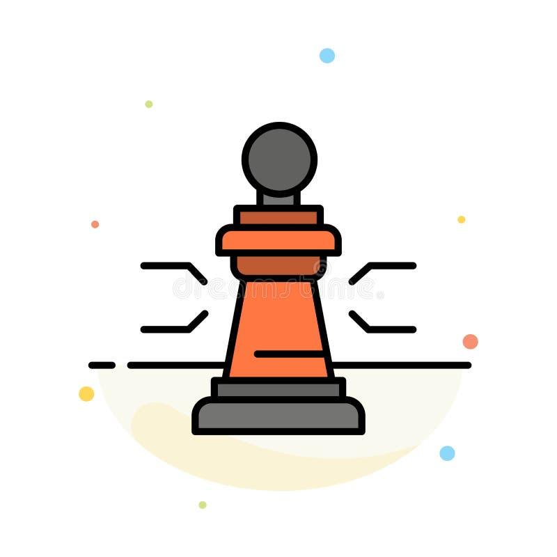 棋,好处,事务,图,比赛,战略,战术摘要平的颜色象模板 库存例证