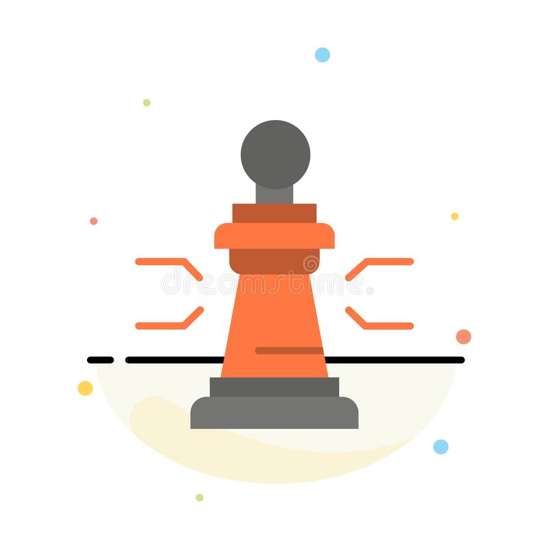 棋,好处,事务,图,比赛,战略,战术摘要平的颜色象模板 皇族释放例证