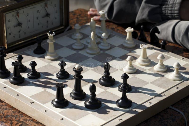棋 演奏时间 免版税库存图片